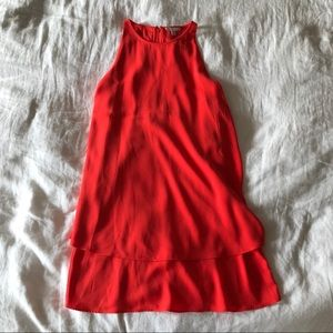 NWT Lila Rose Bright Coral Red Trapeze Dress